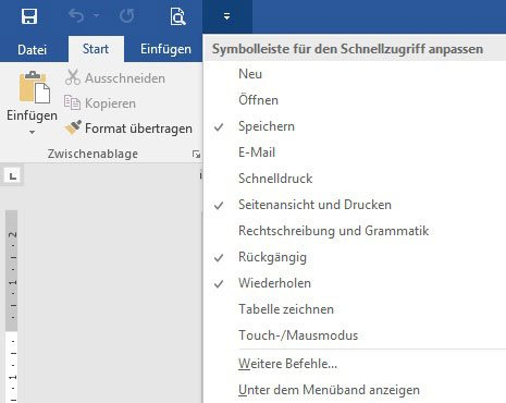 Microsoft Word - Menueband anpassen