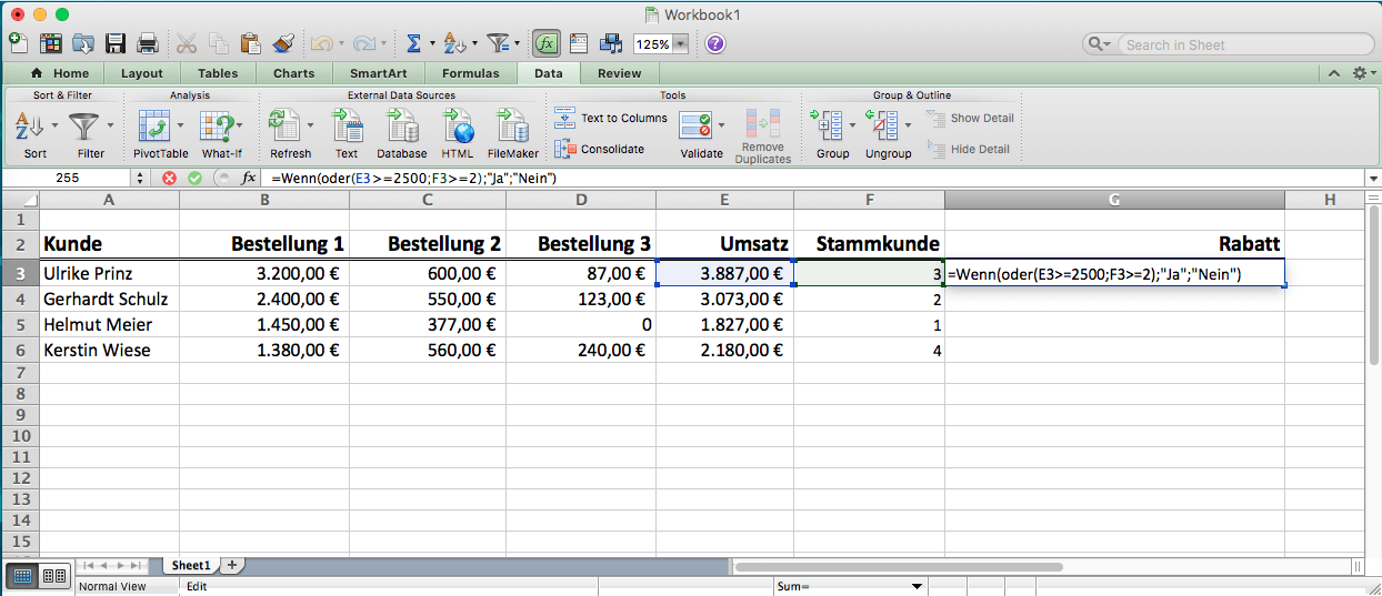 formel text excel