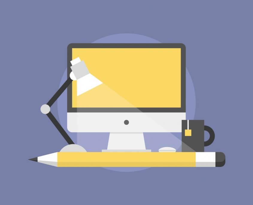 Eine Illustration von einem modernen Computer