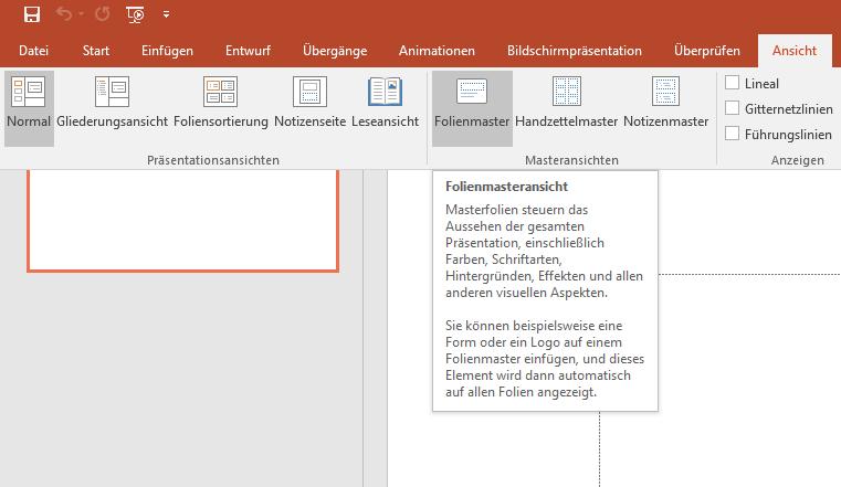 Powerpoint Masterfolie Bearbeiten Easy Anleitung