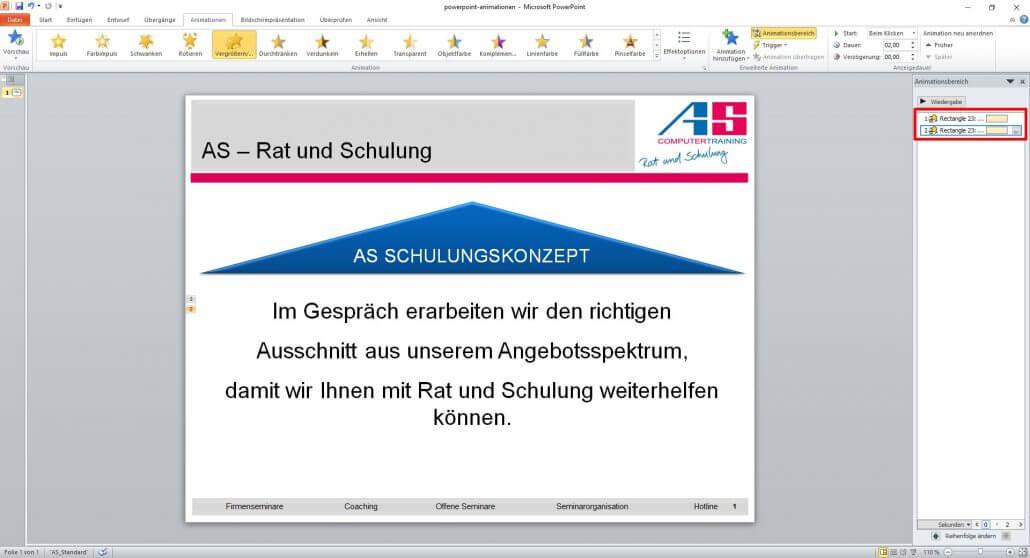 Textzeile in PowerPoint verkleinern