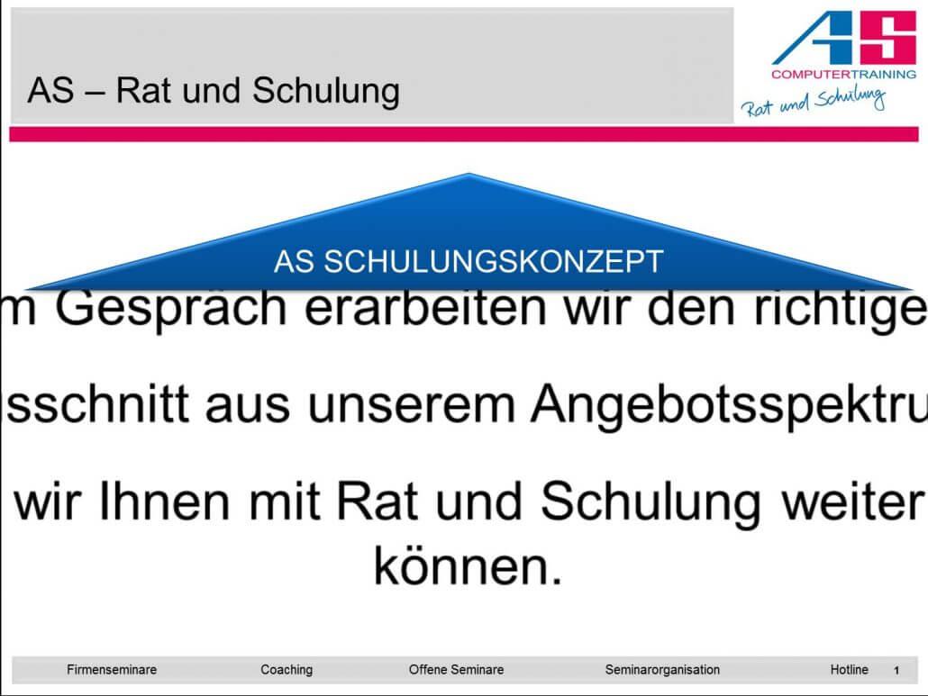 vergrößerte Textzeile bei PowerPoint