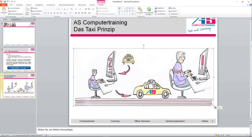 PowerPoint-Folie mit Grafik