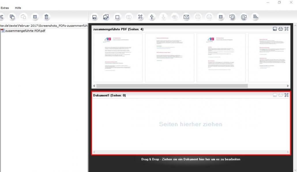 Neue Datei in PDF24 erstellen