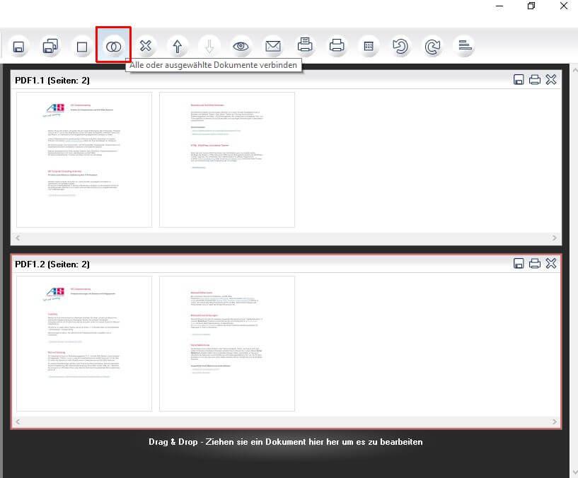 PDF24-Dokumente verbinden
