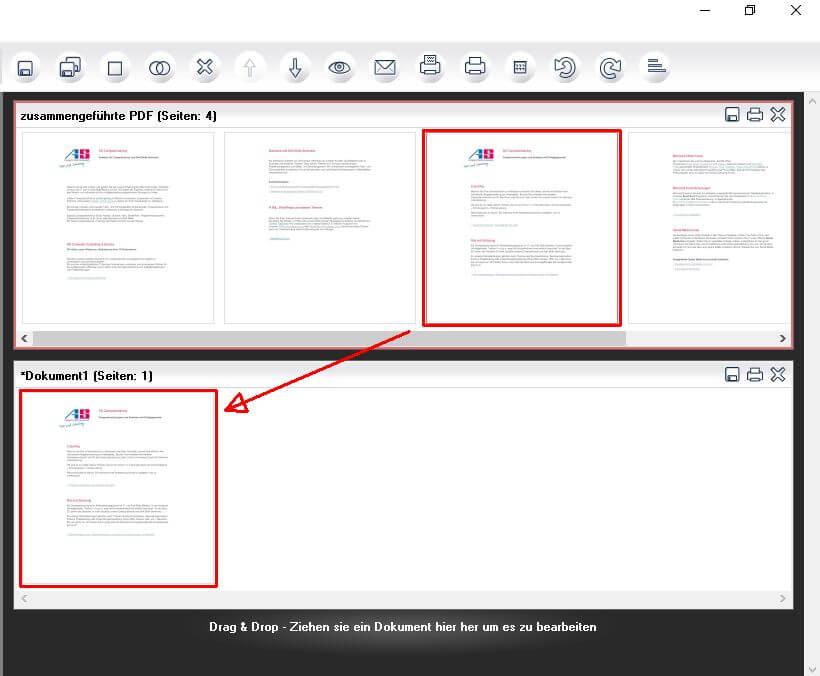 PDF24 - PDF-Seiten mit Drag and Drop trennen