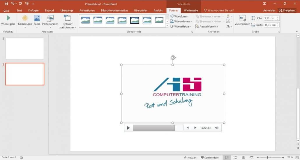 PowerPoint-Video einfuegen