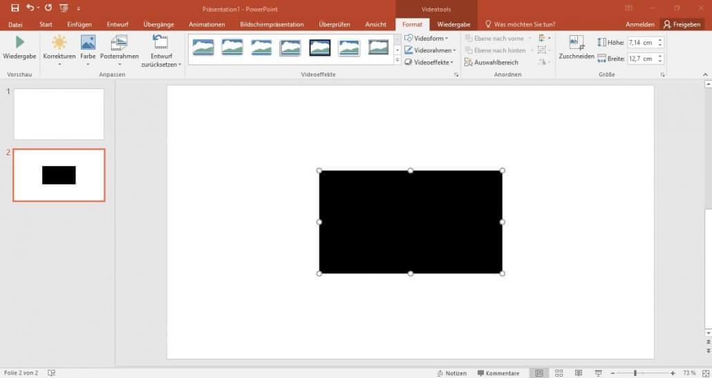 PowerPoint-Videorechteck vergroessern und verkleinern