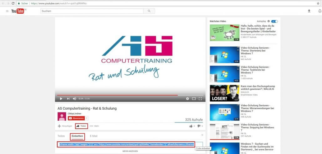 PowerPoint YouTube-Video einbetten