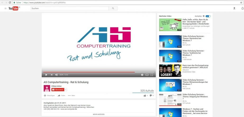PowerPoint-Video ueber Youtube einbinden