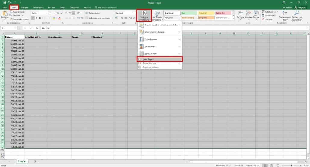 Ausgezeichnet Tägliche Arbeitszeittabelle Excel Vorlage Galerie ...