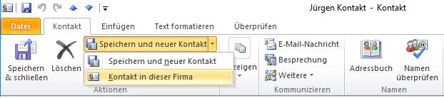 Outlook Kontakte Anlegen Verwalten Synchronisieren As