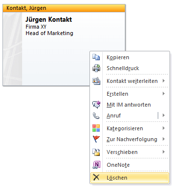 Outlook Kontakte Anlegen Verwalten Synchronisieren As