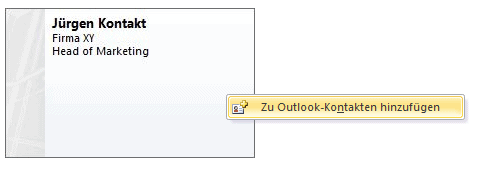 Outlook Kontakt weiterleiten