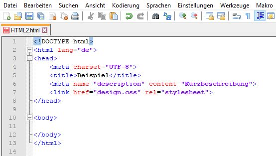 HTML Quellcode Doctype