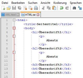 Quellcoce HTML-Dokument