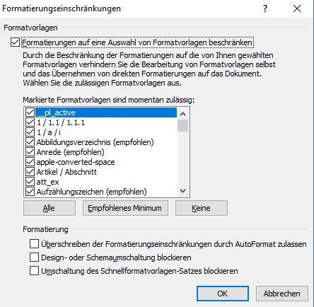 Microsoft Word - Formatierungseinschränkungen
