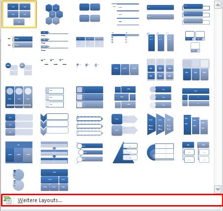 PowerPoint weitere Layout-Vorlagen