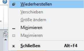 Windows 10 - Tastenkombination Alt + Leerzeile