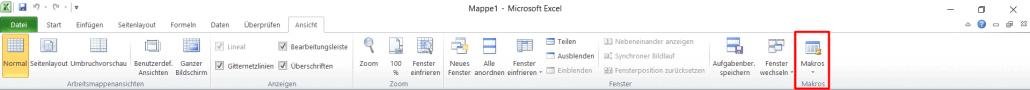 Excel - Makro Funktion 1