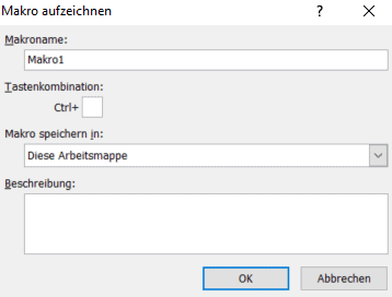 Excel - Makro aufzeichnen