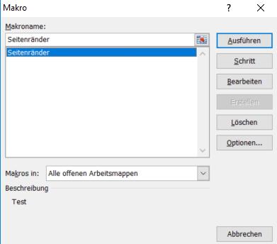 Excel - Makros ausführen