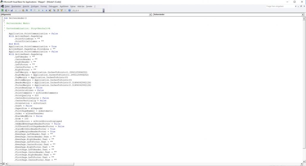 Excel - Visual-Basic-Editor