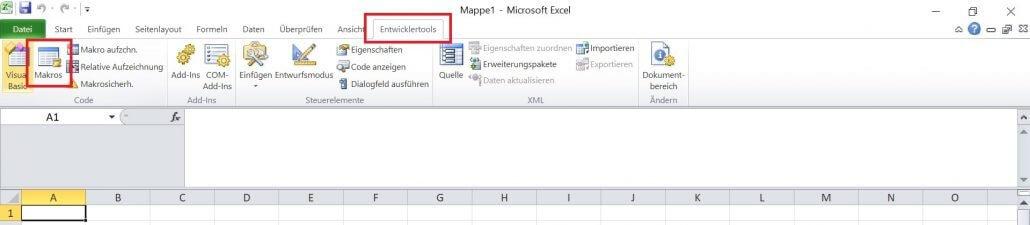 Excel - Makro anlegen