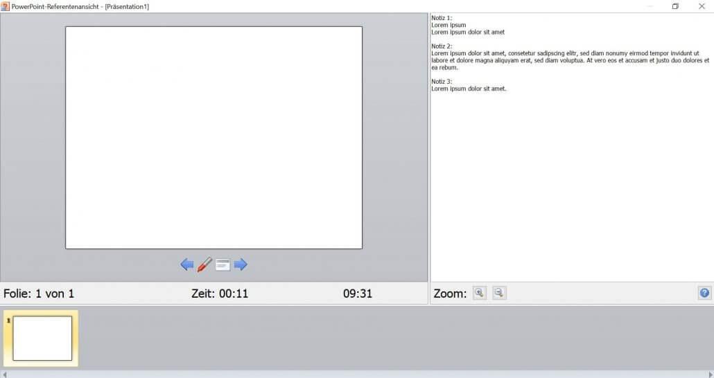 PowerPoint - Referentenansicht