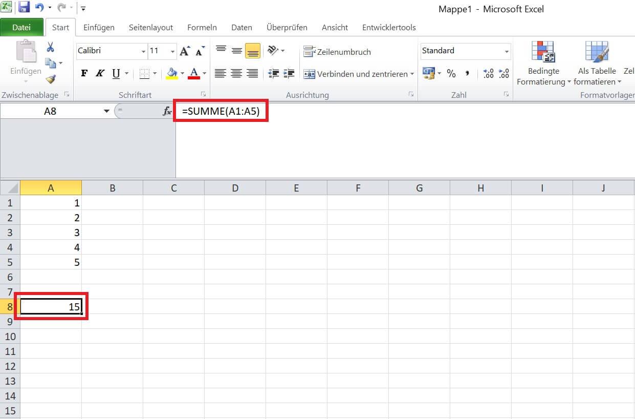 Excel - Fehler Formel beheben - Summe nachträgliche Änderungen