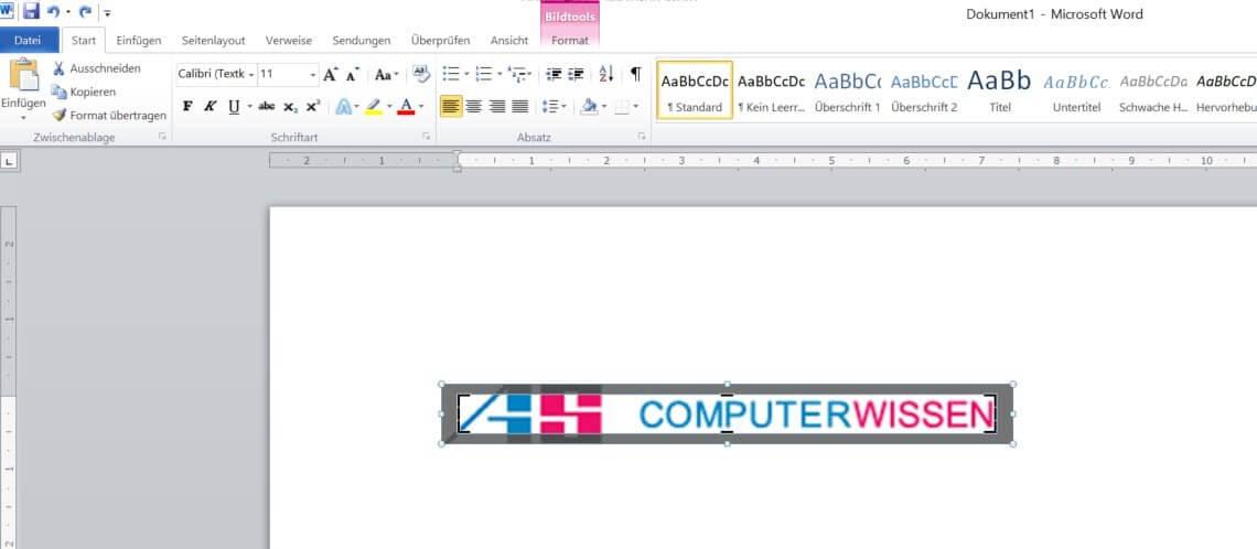 Word - Bilder zuschneiden 2