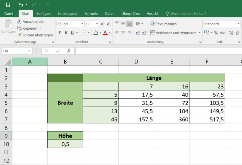 Absolute Bezüge in Excel