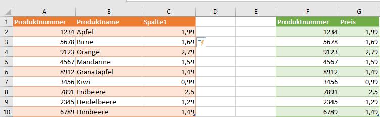 Excel SVERWEIS Beispiel Bereichverweis falsch