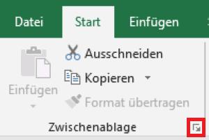Excel Zwischenablage öffnen