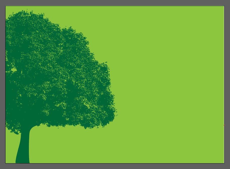 grüner Baum vor grünem Hintergrund