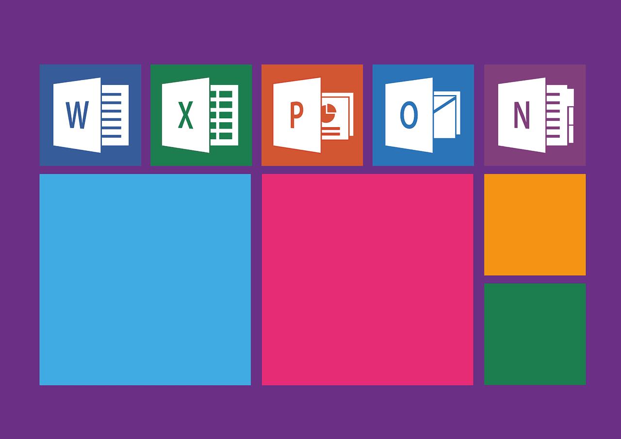 Alle Logos der Microsoft 365 Apps als Übersicht