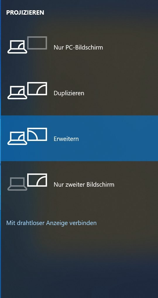 Screenshot Monitoranzeige erweitern