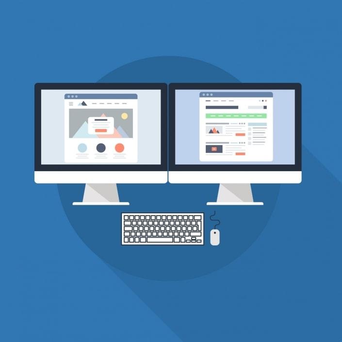 AS Computer Blog arbeiten mit zwei Bildschirmen