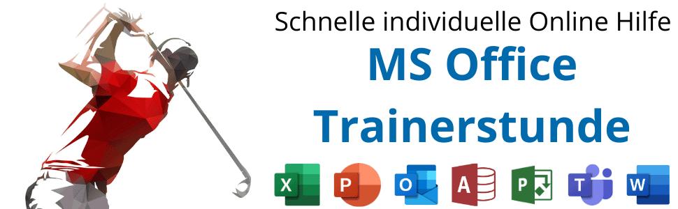 MS Office Trainerstunde buchen